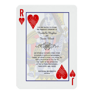 King Queen Playing Card Invitation