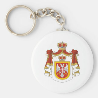 Kingdom of Serbia Basic Round Button Key Ring