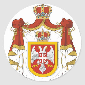 Kingdom of Serbia Round Sticker