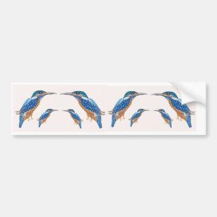 KingFisher Bird Bumper Sticker