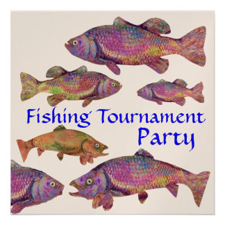 KINGFISHER S FISHING TOURNAMENT PARTY Champagne Personalized Invites