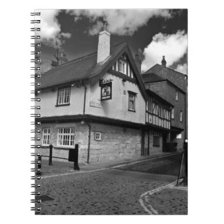 Kings arms. The pub that floods. Note Book