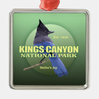 Kings Canyon NP (Steller's Jay) WT Silver-Colored Square Decoration