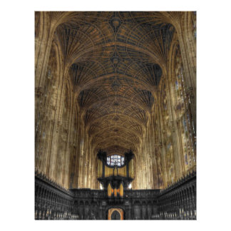 King's College Chapel ~ Cambridge, England 21.5 Cm X 28 Cm Flyer