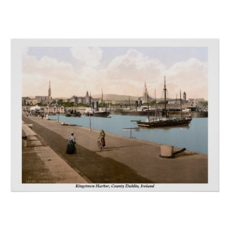 Kingstown - DunLaoghaire Harbor, Co. Dublin Poster