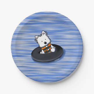 KiniArt Waterplay Westie Paper Plates