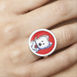 KiniArt Westie On Red Ring