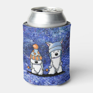 KiniArt Winter Westies Can Cooler