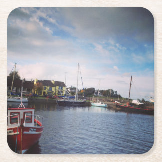 Kinvara, Co.Galway Square Paper Coaster