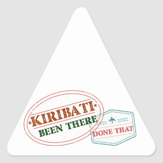 Kiribati Been There Done That Triangle Sticker