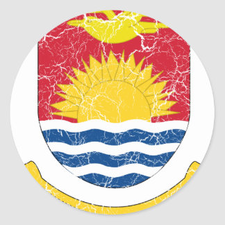Kiribati Coat Of Arms Classic Round Sticker