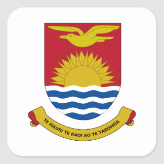 Kiribati Coat of Arms Square Sticker