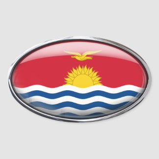 Kiribati Flag in Glass Oval (pack of 4) Oval Sticker