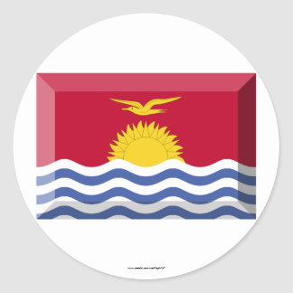 Kiribati Flag Jewel Classic Round Sticker