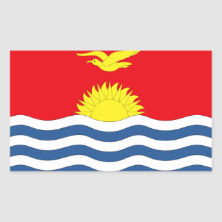 Kiribati Flag Rectangular Sticker