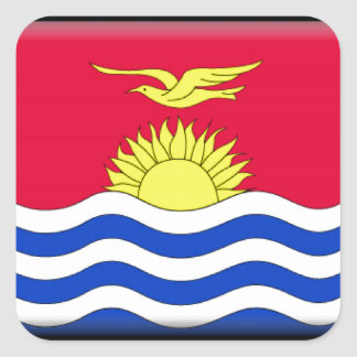 Kiribati Flag Square Sticker