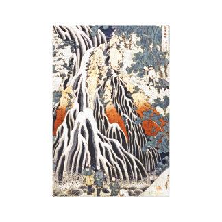 Kirifuri Waterfall on Mount Kurokami in Shimotsuke Gallery Wrapped Canvas