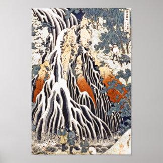 Kirifuri Waterfall on Mount Kurokami in Shimotsuke Print