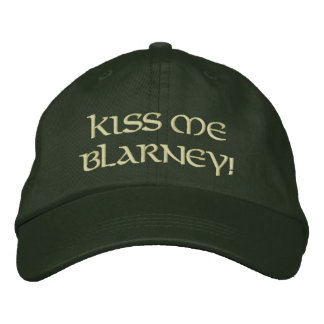 Kiss Me Blarney Embroidered Cap