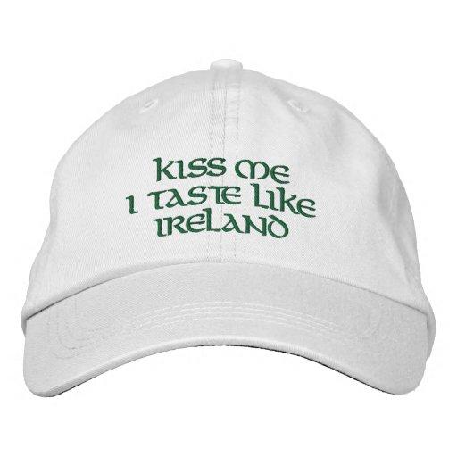 KISS ME I TASTE LIKE IRELAND-Irish Humor Embroidered Hats