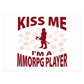 Kiss Me I'm A MMORPG Player Postcard