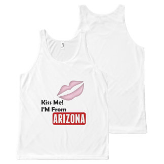 Kiss Me, I'M From Arizona All-Over Print Singlet