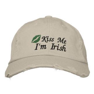 Kiss Me I'm Irish Embroidered Hat Embroidered Baseball Cap