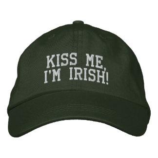 """Kiss Me, I'm Irish!"" Hat Embroidered Hat"