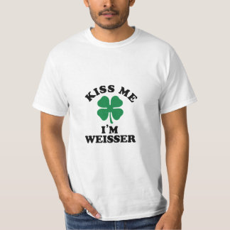 Kiss me, Im WEISSER T Shirt