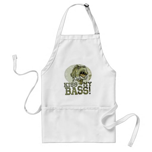 Kiss My Largemouth Bass by Mudge Studios Aprons