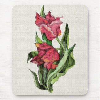 Kiss My Red Tulips Mouse Mats