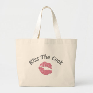 Kiss the Cook Large Tote Bag