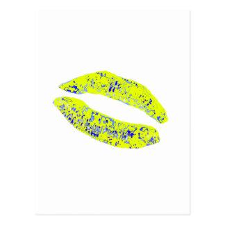 Kiss Yellow Blue 20 deg The MUSEUM Zazzle Gifts Postcard