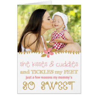 Kisses & Cuddles Mother's Day Photo Card