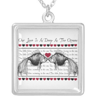 Kissing Fish & Hearts Necklaces