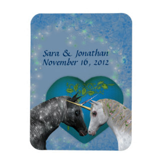 Kissing Unicorns Cute Wedding Favor Magnet