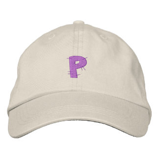 Kitchen Craft Letter P Embroidered Baseball Cap