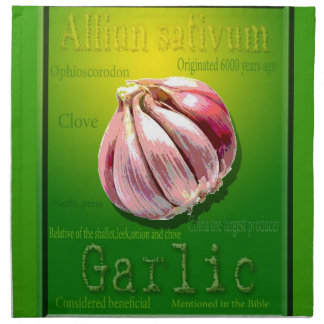 Kitchen garlic napkin