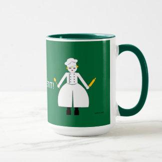 Kitchen Martzkin Green Chef's Mug