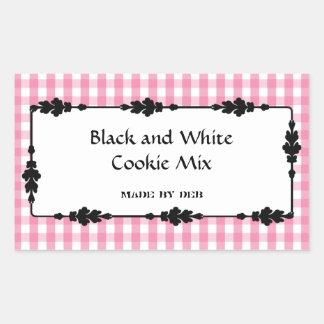 Kitchen Spice, Food, and Drink Labels Rectangular Sticker