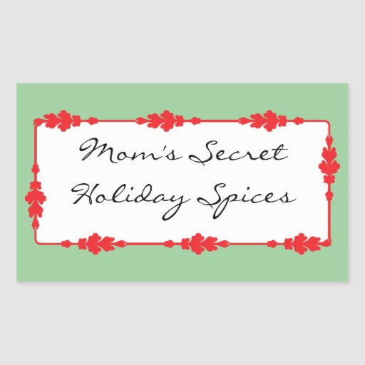 Kitchen Spice, Food, and Drink Labels Sticker