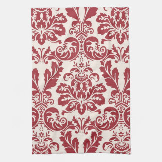 Kitchen Towel...red and white damask