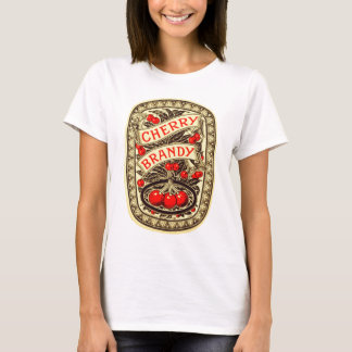 Kitsch Vintage Alcohol Cherry Brandy Label T-Shirt
