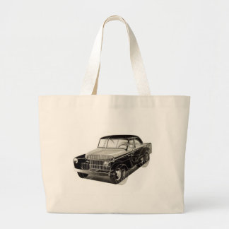 Kitsch Vintage Auto 'The Victory Car' Large Tote Bag