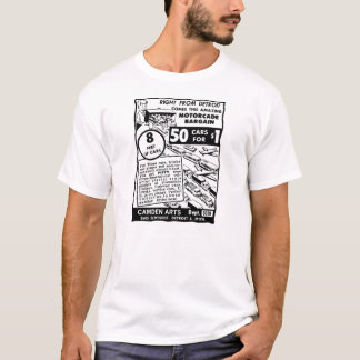Kitsch Vintage Comic Book Toy Ad '50 Cars for $1' T-Shirt