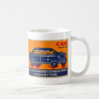 Kitsch Vintage India Matchbook 'Car' Coffee Mug