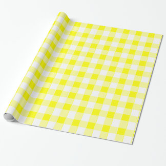 Kitschy Yellow Tablecloth Wrapping Paper