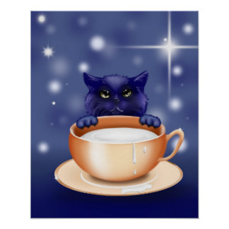 kitten-83660 CUTE KITTEN CAT CARTOON ANIMATIONS TE Poster