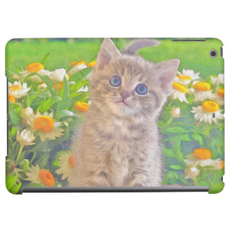 Kitten and Flowers iPad Air Cover