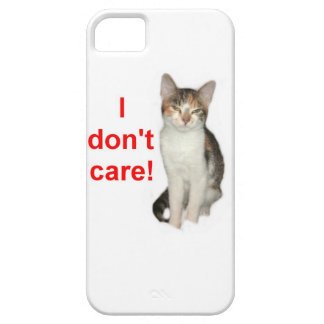 Kitten Doesnt Care iPhone 5 Cases